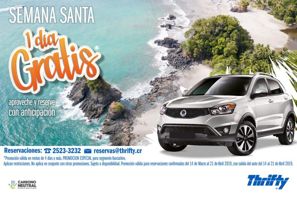Aproveche un día gratis en Semana Santa con Thrifty Car.